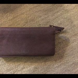 Brown fossil soft leather wallet.